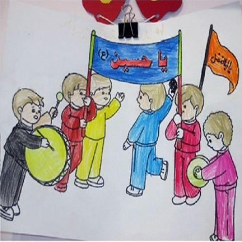 نقاشی اربعین حسینی ساده