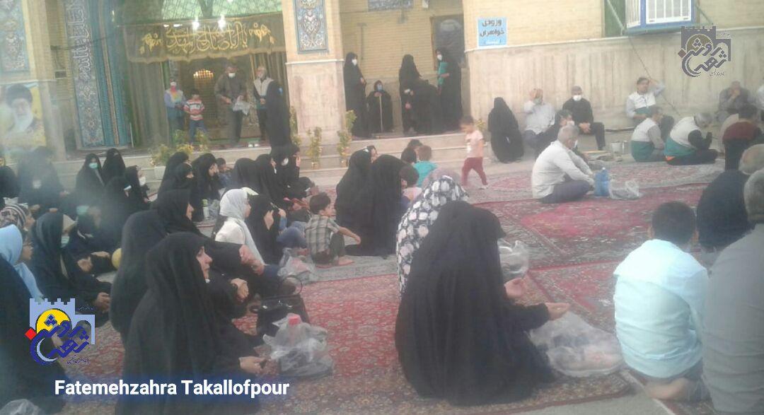 برگزاری مراسم شهادت امام جواد(ع) با حضور خادمیاران در طاقبستان