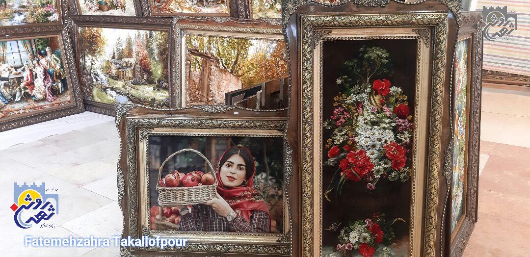 نوزدهمین نمایشگاه فرش و لوستر در کرمانشاه به روایت تصویر
