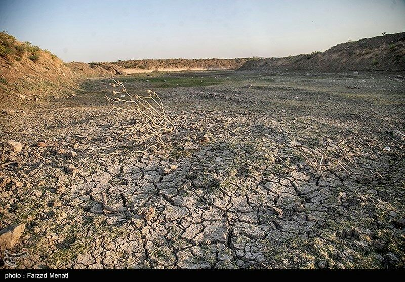خشک شدن رودخانه رازآور در کرمانشاه