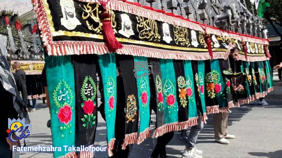 برگزاری تاسوعای حسینی در دروازه نجف کرمانشاه به روایت تصویر