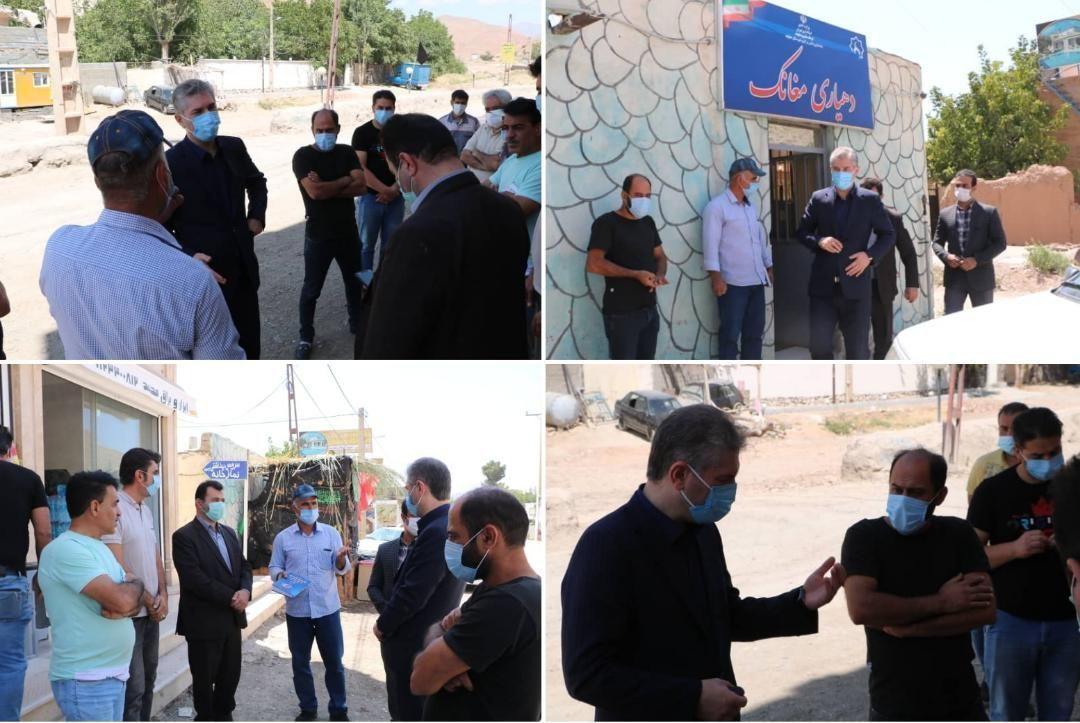 بازدید فرماندار شهرستان دماوند از روستای مغانک