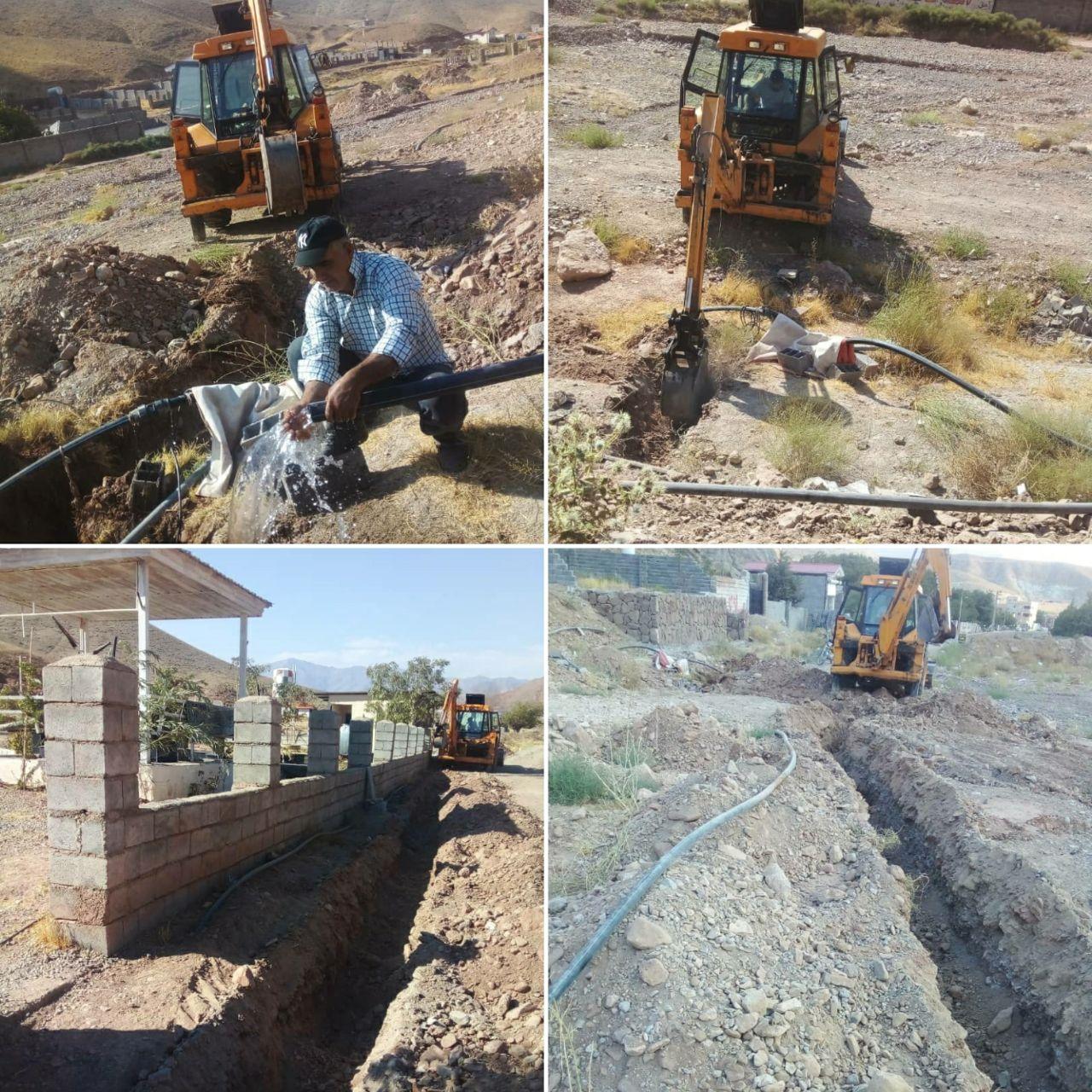 آبرسانی به گلزار شهدای روستای مغانک دماوند