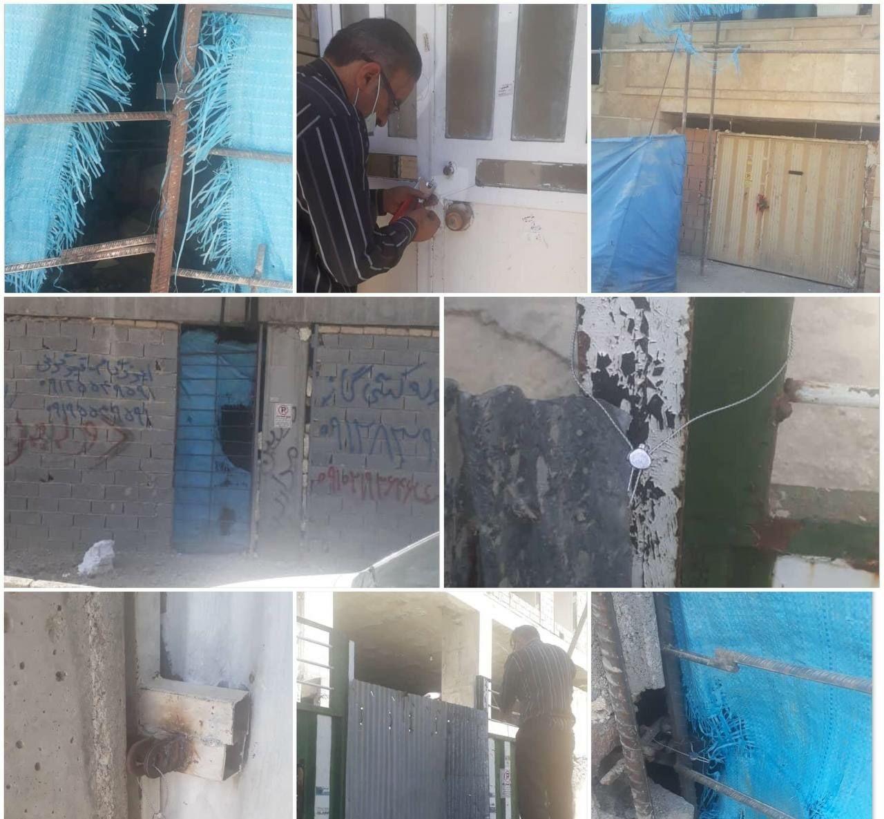 پلمپ ساختمانهای سقف غیر مجاز سطح شهر توسط شهرداری رودهن