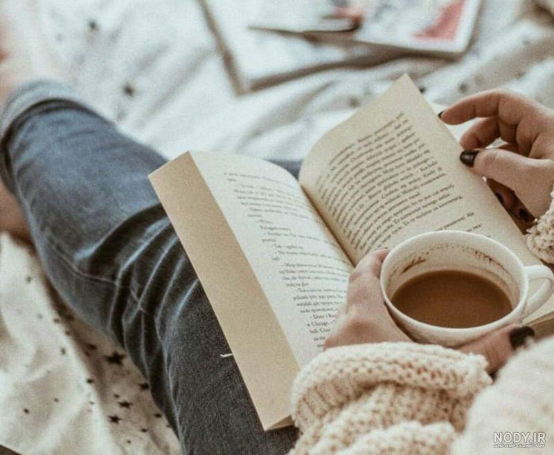 عکس پروفایل کتاب و دختر