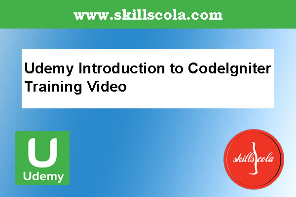 Udemy Introduction to CodeIgniter Training Video
